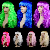 Новогодние разноцветные парики(кудри)