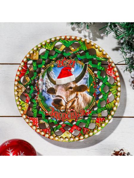 Новогодняя тарелка №1