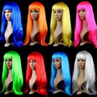 Новогодние разноцветные парики(прямые)