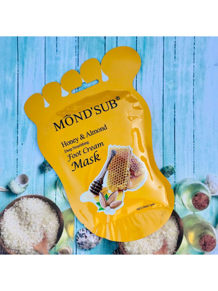 MOND'SUB Питательные маски для ног с медом и миндалем