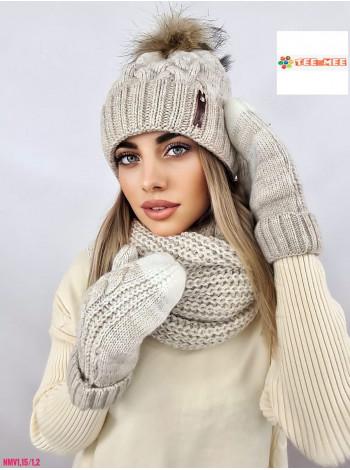 КОМПЛЕКТ ШАПКА-ШАРФ №256