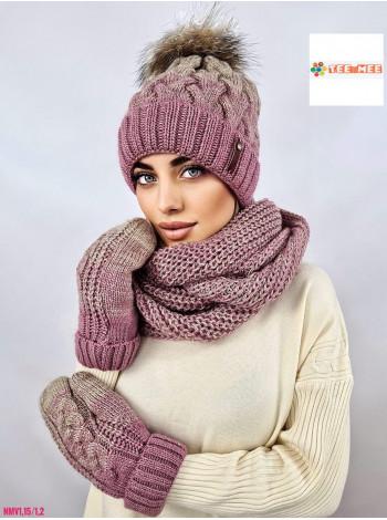 КОМПЛЕКТ ШАПКА-ШАРФ №258
