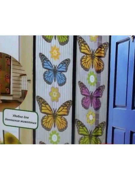 Москитная сетка с бабочками на 18 магнитах