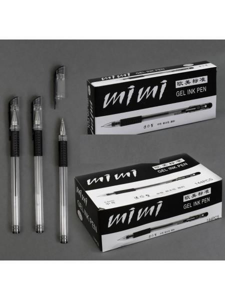 Ручка гелевая чёрная 12 шт