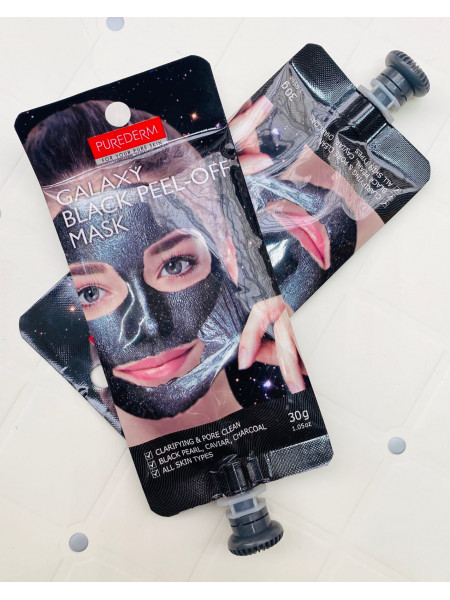 Очищающая маска-пленка Purederm Galaxy Black Peel-off Mask