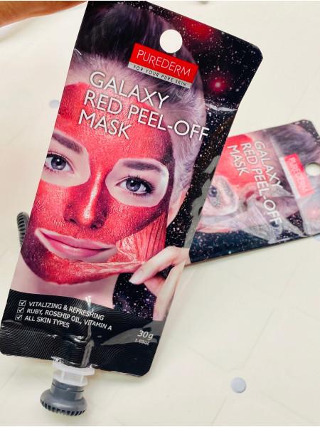 Очищающая маска-пленка Purederm Galaxy Red Peel-off Mask Красная