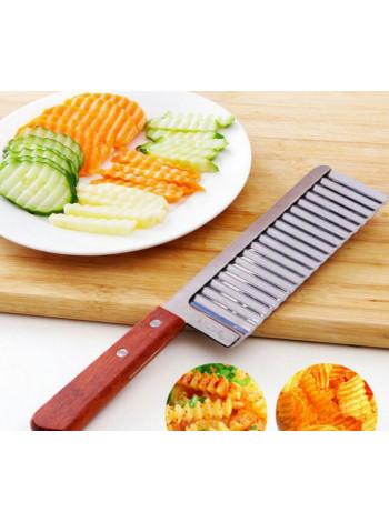 Нож-слайсер рифленый для фигурной нарезки