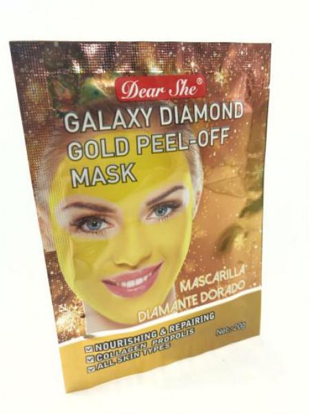 Маска для лица Dear She galaxy diamond gold peel-off mask(желтая)