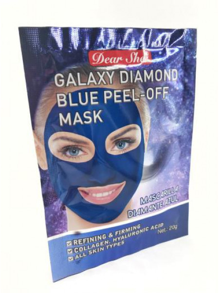 Маска для лица Dear She galaxy diamond blue peel-off mask ( синяя)
