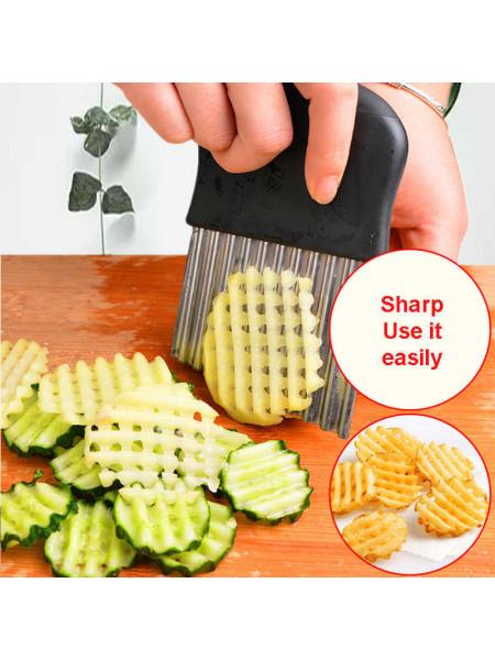 Рефленный нож для фигурной нарезки овощей