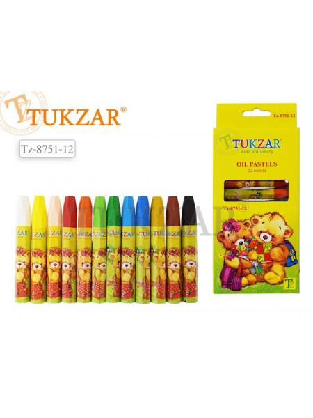 Пастель масляная 12 цветов Tukzar Мишки в индивидуальной упаковке