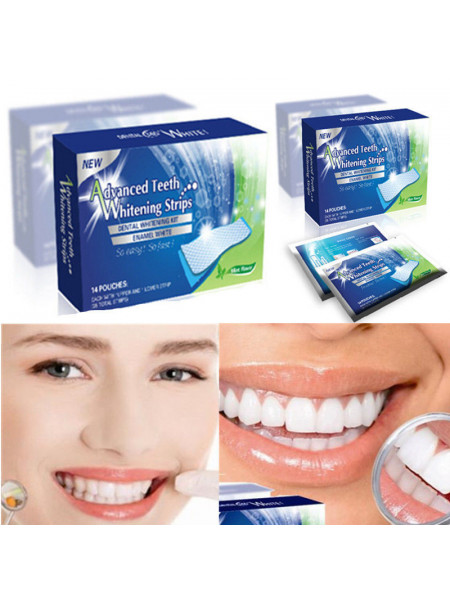 Отбеливающие полоски Advanced Teeth Whitening Strips 1 шт