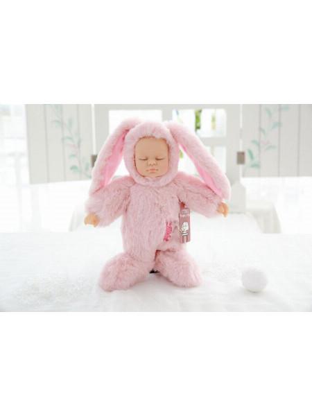 Спящая куколка в пижамке зайца