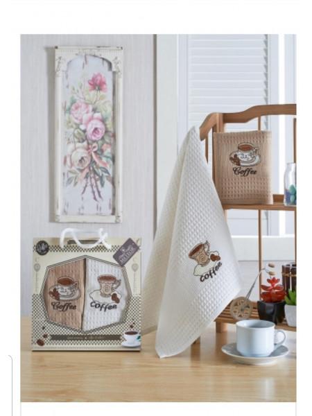 Набор вафельных кухонных полотенец Арт.001