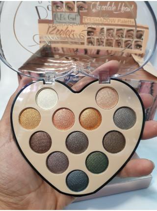Палетка теней от DoDo Girl chocolate Heart 12 цветов