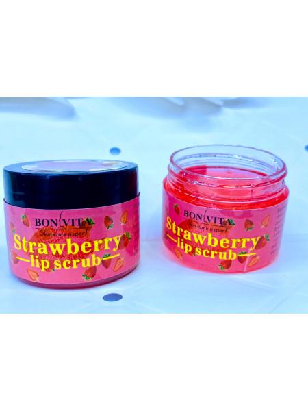 скраб для губ strawberry lip scrub