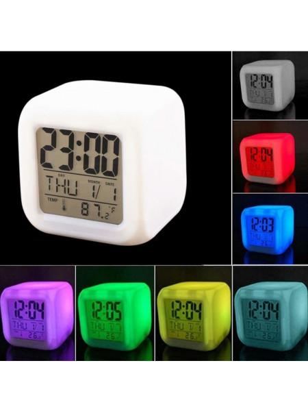 Светодиодные часы с ЖК-дисплеем и будильником