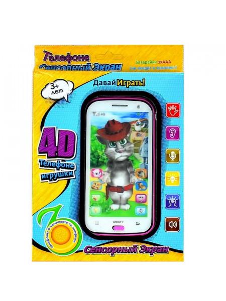Интерактивный детский телефон Кот Том