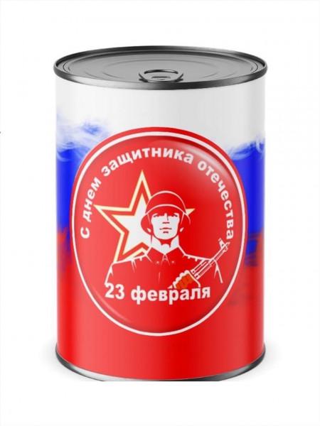 ПОДАРОЧНЫЕ НОСКИ В ЖЕСТЯНОЙ БАНКЕ - 23 февраля