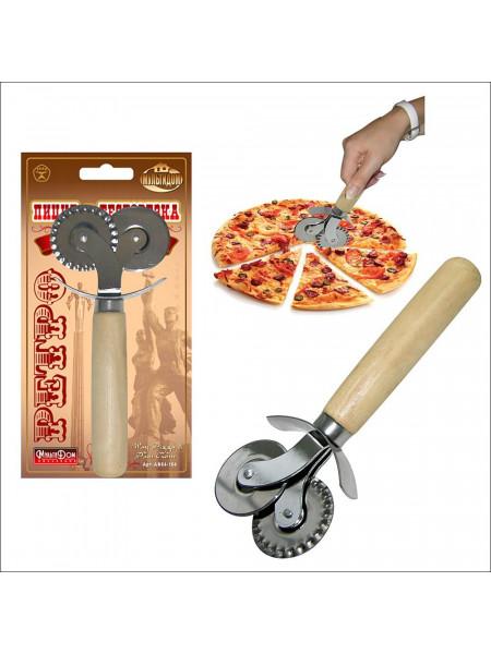 Нож для пиццы и теста 2в1