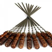 Шампура подарочные с деревянной ручкой  (упаковка 10 шт)