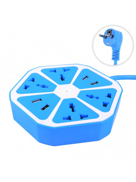Универсальный разъем питания 4 usb hexagon socket