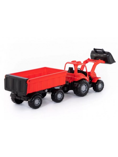 Крепыш, трактор с прицепом и ковшом