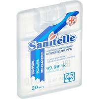 Спрей для рук антисептический Sanitelle с экстрактом органического хлопка, 20 мл