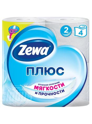 Туалетная бумага Zewa Плюс 2 слоя, 4 рулона
