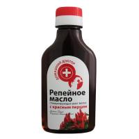 Масло репейное стимулирующее рост волос Домашний доктор с красным перцем, 100 мл