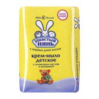 Крем-мыло детское Ушастый нянь с оливковым маслом и ромашкой, 90 г