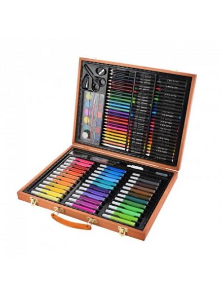Набор художника в деревянном чемоданчике 150 предметов