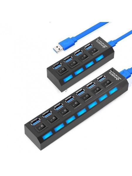 Концентратор USB 2.0 7 портов множитель