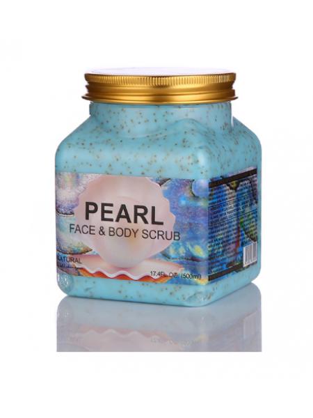 Скраб для тела и лица Wokali Pearl face and body scrub с жемчугом