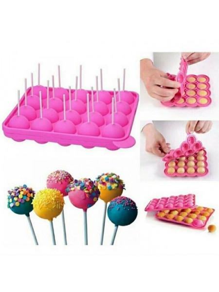 Форма для кейк попс, шарики на палочке 20 ячеек