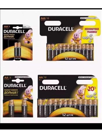 Батарейки тип ААА (мизинчиковые) и АА (пальчиковые) 12 шт