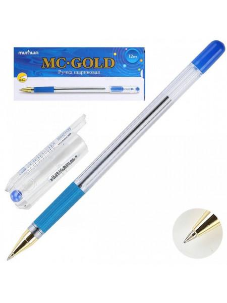 Ручка шариковая mc gold синяя (12 штук)