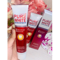 Отбеливающая зубная паста Pure White от Bioaqua, 120 гр( красная)