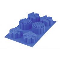 Форма для маффинов силиконовая SilicoFlex (6 шт.)