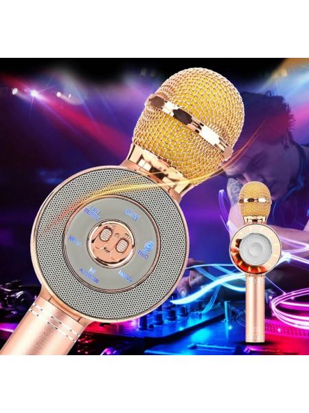 Караоке микрофон с колонкой и подсветкой WS 668
