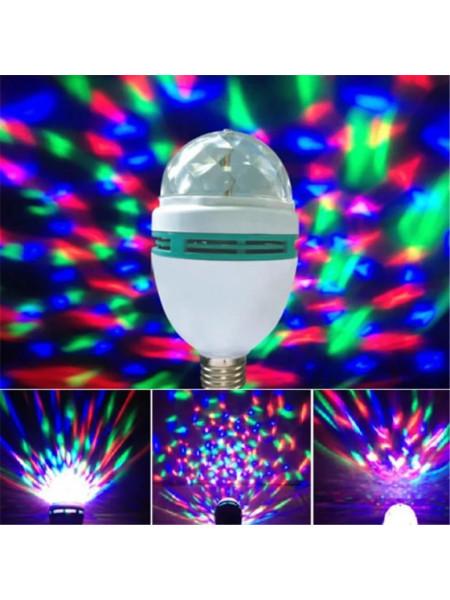 LED Mini Party Lamp / Вращающаяся разноцветная диско лампа
