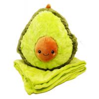 Мягкая игрушка Авокадо  с пледом 3 в 1